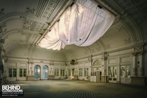 Stunning ballroom of the abandoned Paragon Hotel in Italy where time is starting to take its toll on the grandeur more in comments