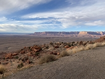 Stunning Landscape in Navajo Nation Arizona Late December
