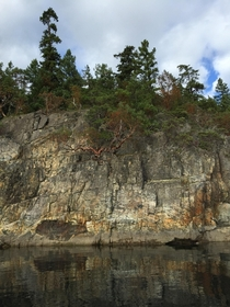 Stunning Rock Face in Desolation Sound BC