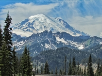 Stunning shot of Mount Rainier from this summer best photo Ive taken actually