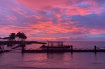 Stunning sunset in Fiji March