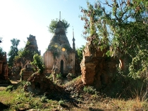 Stupas near Inle Lake Myanmar