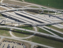 Suburban Dallas Freeway Junction