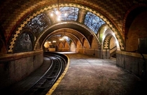 Subway Train station New York