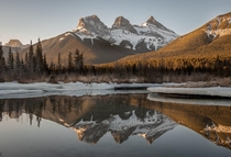 Such a popular view in my area but dang it never gets old The three sisters in Canmore Alberta