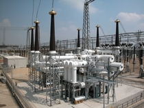 Sulfur hexafluoride gas circuit breakers in a  kV switchyard