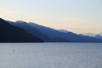 Summer evening in Harrison Hot Springs BC Canada