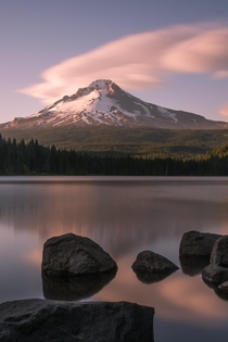 Summer evenings on Trillium Lake Oregon