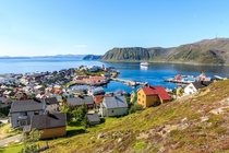 Summer in Honningsvg the northernmost town of Norway