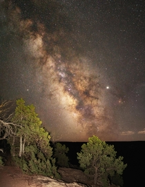 Summer Milky Way Seen from the Edge of Black Canyon Colorado