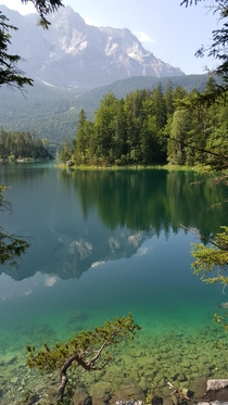 Summer Morning at Eibsee Lake near Grainau Germany