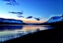 Summer night in Seydisfjordur Iceland