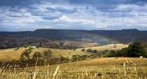 Summer rain in the farmlands of Australia - Blue Mountains NSW Australia