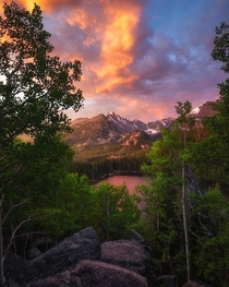 Summer sunrises Rocky Mountains - Colorado