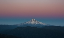 Summer Sunset at Mt Hood