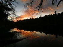 Summer sunset in Algonquin Park Canada