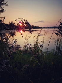 Summer sunset on the Rideau River Ontario Canada  OC