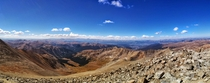 Summit of Grays Peak Colorado looking West