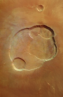 Summit of Olympus Mons on Mars