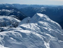 Summit ridge of Mount Arrowsmith BC Canada