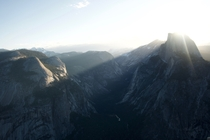 Sun breaking over Half Dome yesterday Yosemite CA  x