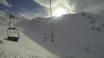 Sun just managing to break through Austria Kaltenbach
