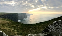 Sun peaking through by the Cliffs of Moher