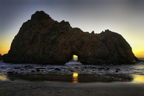 Sun Portal at Pfeiffer Beach California