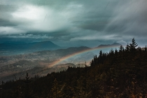 Sun Rain Snow Sleet And a Rainbow All In a Two Hour Window Near Everson WA  Insta justincron
