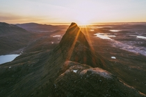 Sun rising over one of Scotlands most iconic mountains Suilven  IG pete_ell