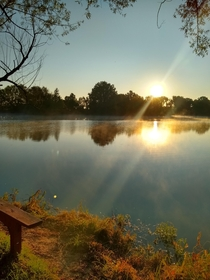 Sun rising over the lake this morning Vandalia MO x