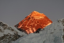 Sun Setting on Mount Everest