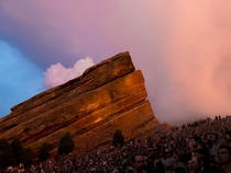 Sun setting over Red Rocks