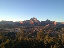 Sun setting over Sedona AZ