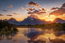 Sun shines through the Tetons  Jackson Hole WY USA theurbanvoyager