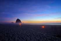 Sunday Sunset hour at Cannon Beach  x