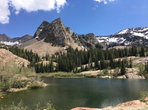 Sundial Peak overlooking Lake Blanche near Salt Lake City Utah