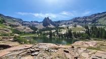 Sundial Peak overlooking Lake Blanche Wasatch National Forest Utah