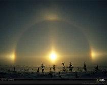 Sundog Light Phenomenon in Manitoba Canada