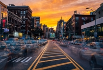 Sundown in Chinatown NYC