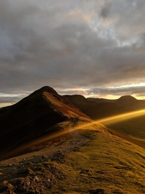 Sundown on the Catbells Lake District England