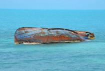 Sunken Ship in Providenciales Turks and Caicos Islands Set in Comments