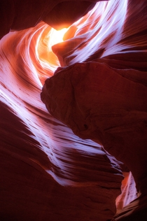 Sunlight peeking through Antelope Canyon AZ OC