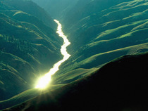 Sunlight Reflecting off the Salmon River Idaho
