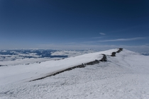 Sunny skies and clear views from the top of Mount Rainier WA