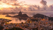 Sunrise and Sugarloaf Mountain in Rio de Janeiro  by Stockfootagecom
