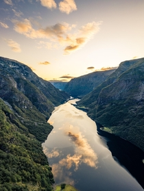 Sunrise at a Norwegian Fjord