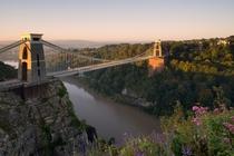 Sunrise at Clifton Suspension Bridge England