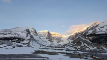 Sunrise at Columbia Icefield Alberta Canada
