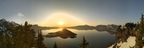 Sunrise at Crater Lake NP OR
